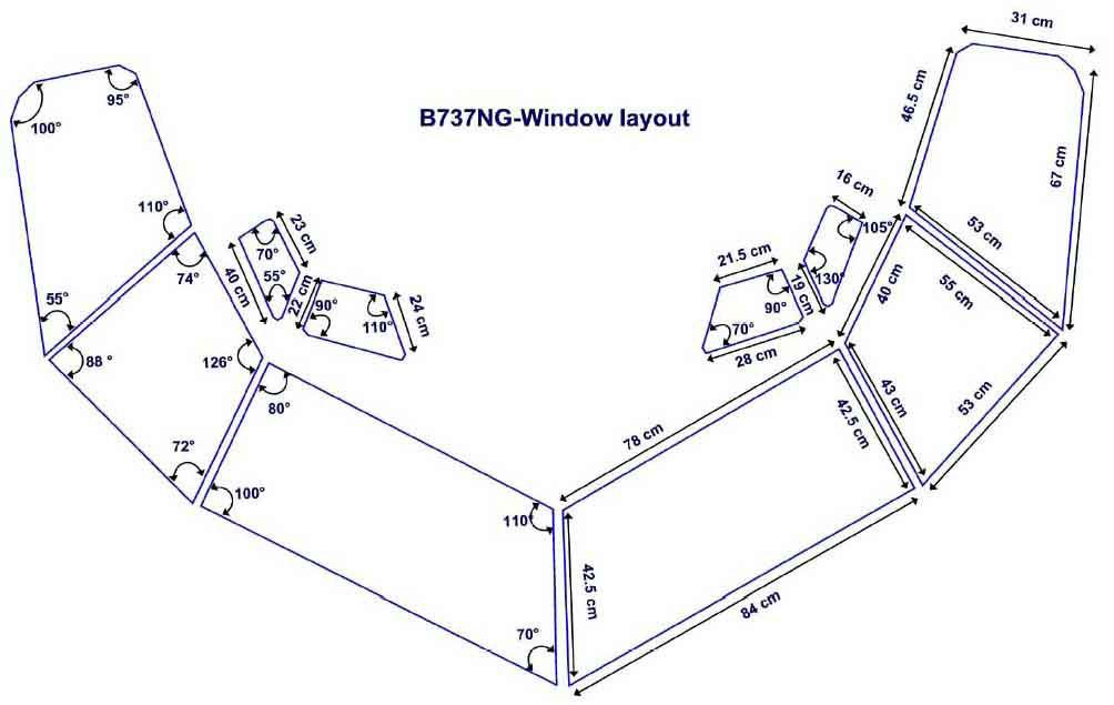 boeing 737 window diagram